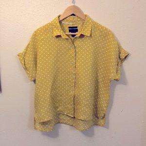 Rachel Roy Linen Button Down Shirt